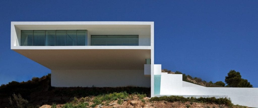 House on the Cliff Facade