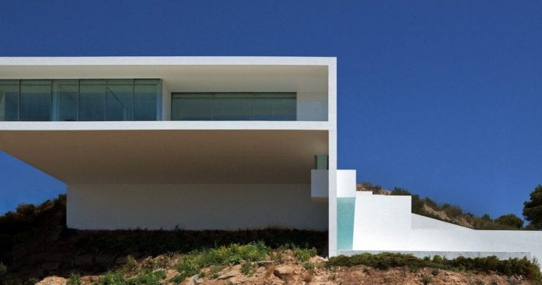 House on the Cliff Facade